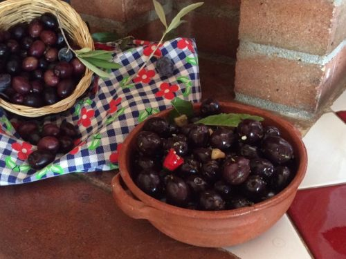 Olive nere intaccate conserva gustosa