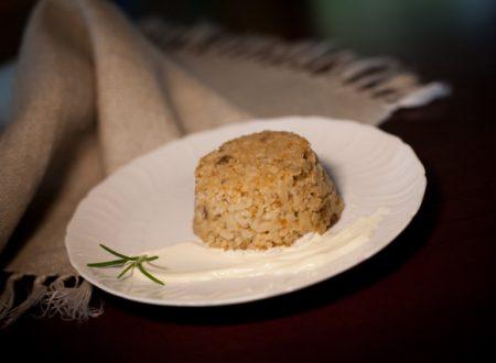 Sformatini di riso con funghi e cuore filante di provola