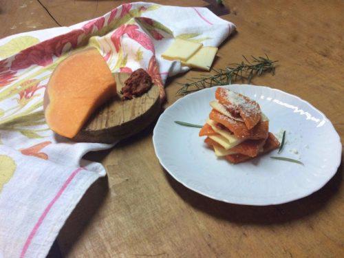 Parmigiana di zucca con nduja e provola