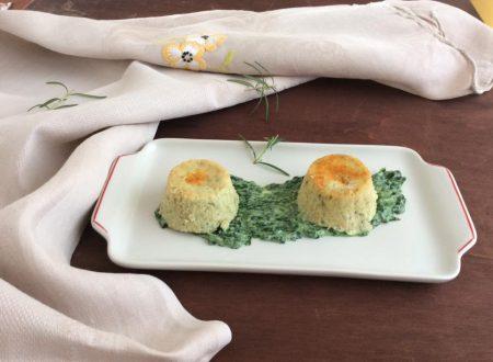 Sformatini di ricotta e spinaci freschi con nduja
