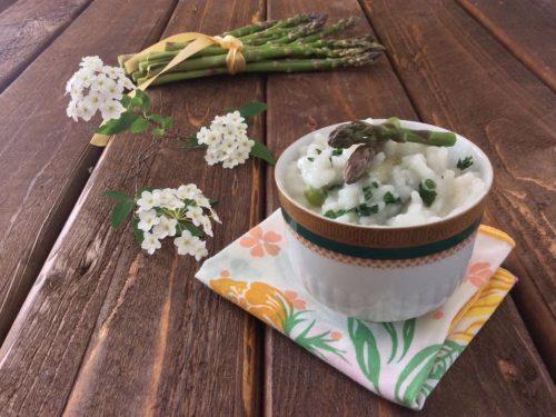 Risotto con asparagi freschi e pecorino  calabrese