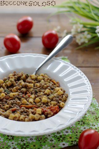 ricetta pasta e lenticchie veloce