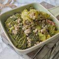 Fagotti i di verza ripieni di macinato salsiccia mortadella