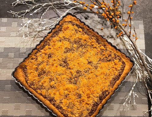 Crostata con crema gianduia