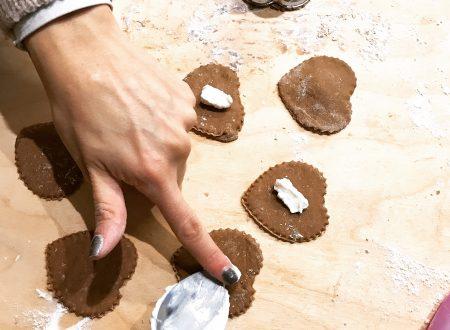 Tortelli al cioccolato con champignon crema