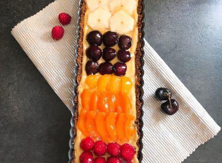 Crostata senza cottura con crema al limone e frutta