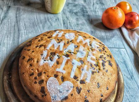 Torta all'arancia con scaglie di cioccolato
