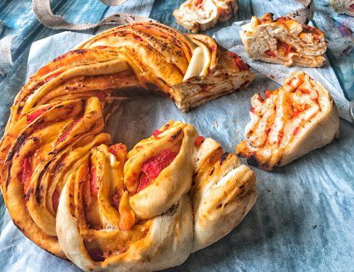 Twist di pane con peperoni
