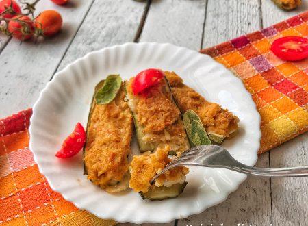 Zucchine ripiene con pomodorini e provola