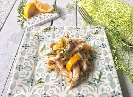 Straccetti di pollo al timo rosmarino limone e miele