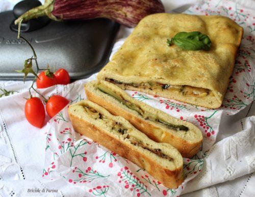 Schiacciata in padella senza lievitazione con verdure grigliate