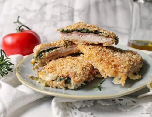 Petto di pollo ripieno di mozzarella prosciutto cotto e spinaci