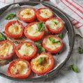 Pomodori ripieni di speck mozzarella fior di latte e provola