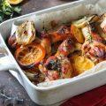 Pollo arrosto con arance e finocchi