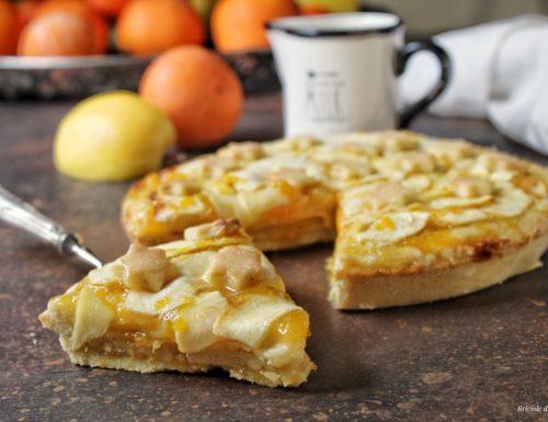 Crostata di mele e marmellata di arance a strati