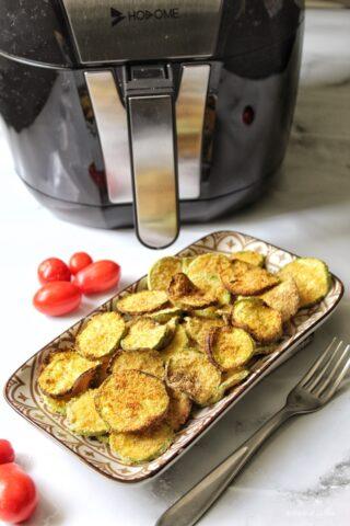 Zucchine panate croccanti con la friggitrice ad aria