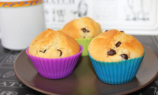 Muffin senza burro con gocce di cioccolato