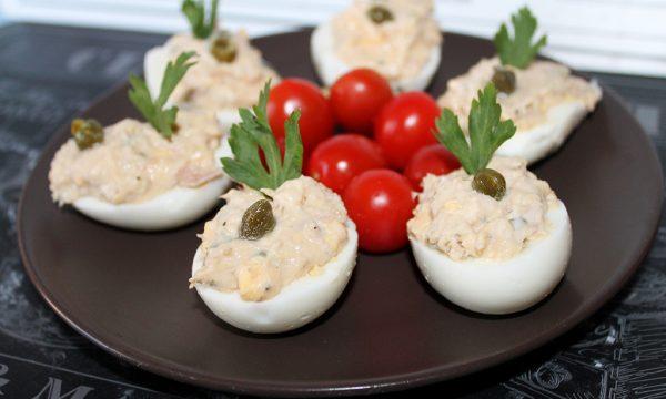 Uova sode ripiene, facili e veloci