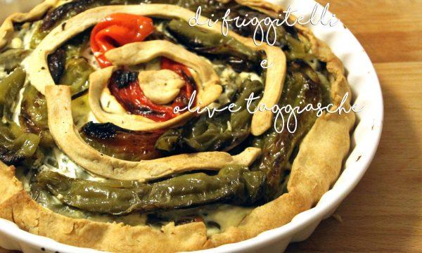 Torta salata di friggitelli e olive taggiasche