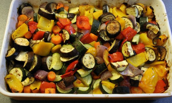 Ratatouille colorata al forno
