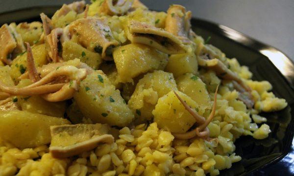 Insalata di calamari patate e cicerchie