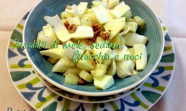 Insalata di mele, sedano, finocchio e noci