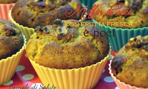 Muffin di ceci con frutta fresca e noci