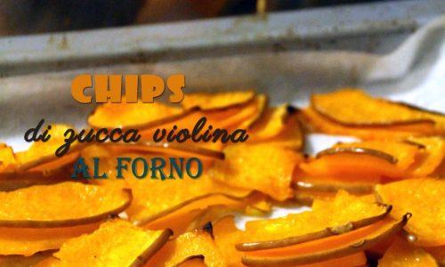 Chips di zucca violina al forno