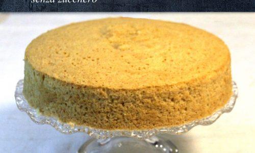 Chiffon cake al limone senza zucchero