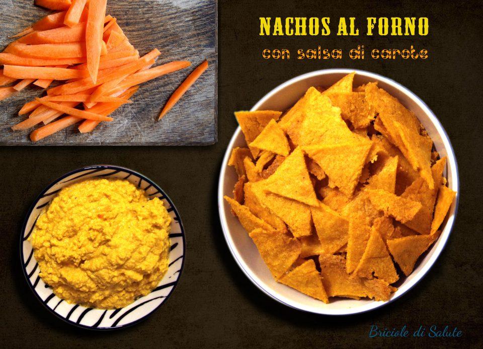 nachos al forno con salsa di carote