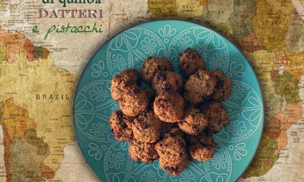 Biscotti morbidi di quinoa datteri e pistacchi