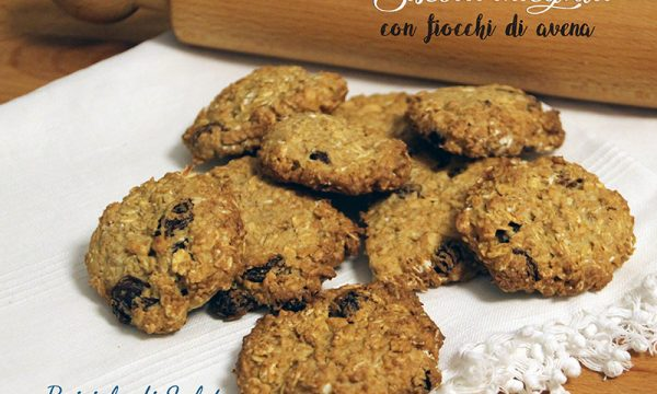 Biscotti integrali con fiocchi di avena