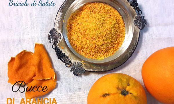 Bucce di arancia essicate