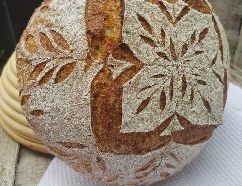 Pane con farina khourasan kamut e lievito madre