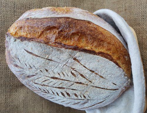 Pane con farina khorasan kamut e farina panettone