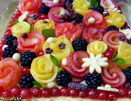 Crostata in fiore
