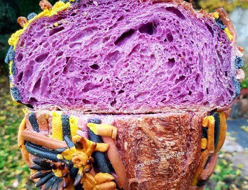 Pane con acqua di carote viola