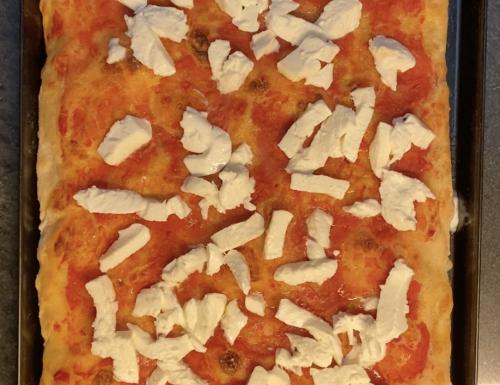 Pizza in teglia romana SENZA IMPASTO ad ALTA IDRATAZIONE