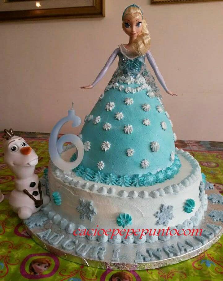 Torta Frozen con panna