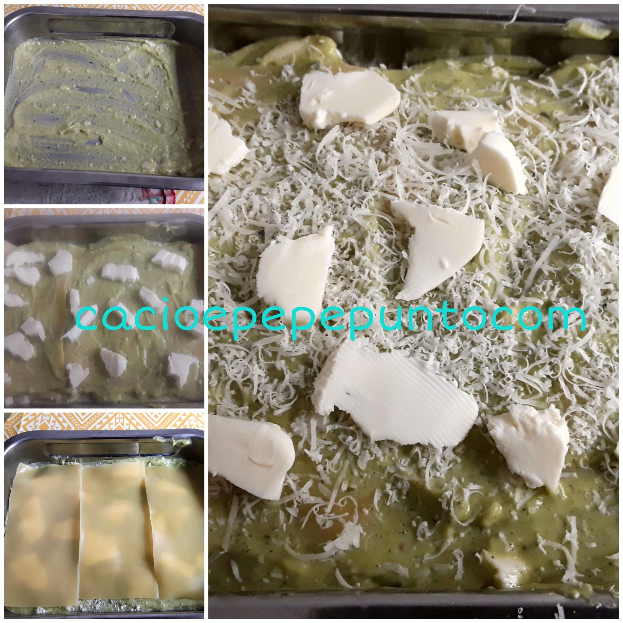Lasagne con crema di zucchini