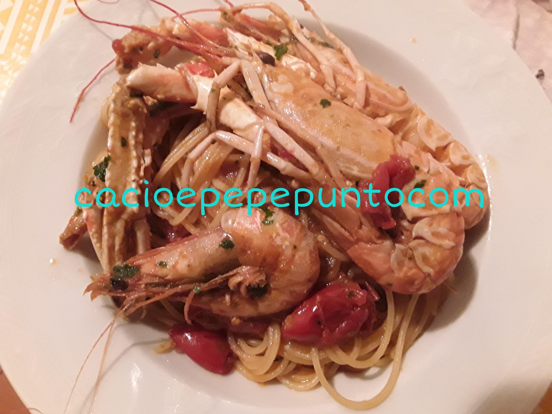 spaghetti scampi e gamberoni