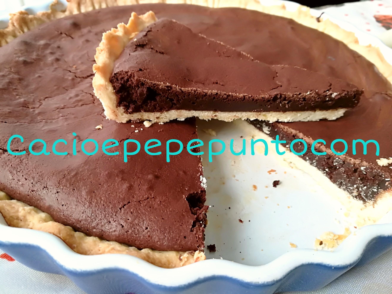 Crostata con mousse di cioccolato