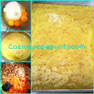 Torta di prugne, carote e nocciole