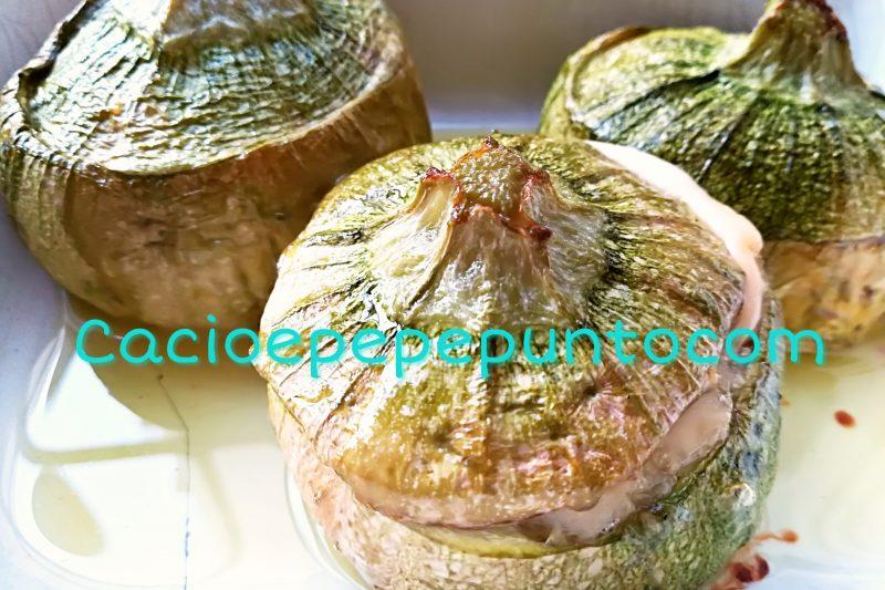 Zucchine farcite con scamorza