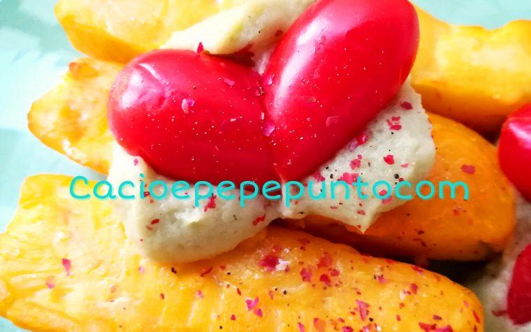 Merluzzo allo zafferano con crema di zucchetta