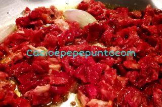 Sugo di polpo e pomodori secchi