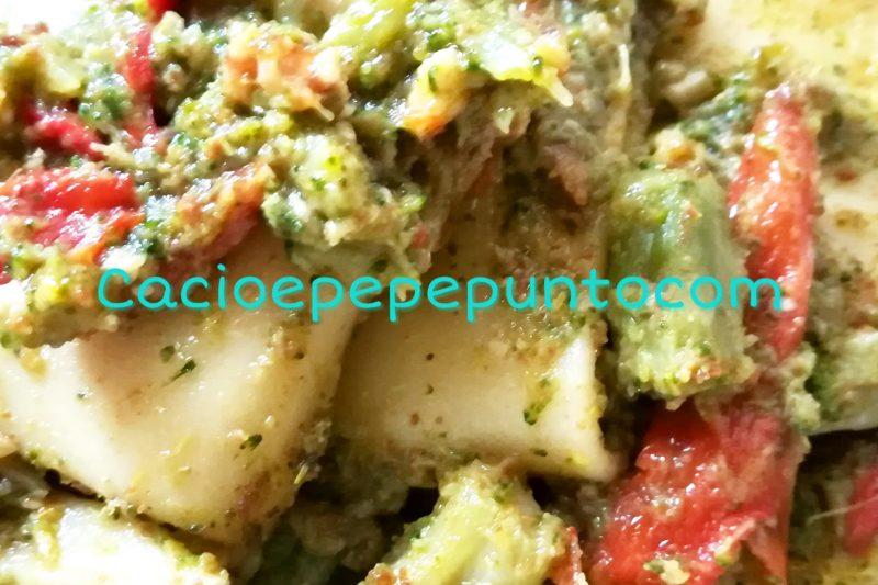 Broccoli baresi, bottarga e noci