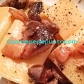Schiaffoni ai funghi porcini e cicoli