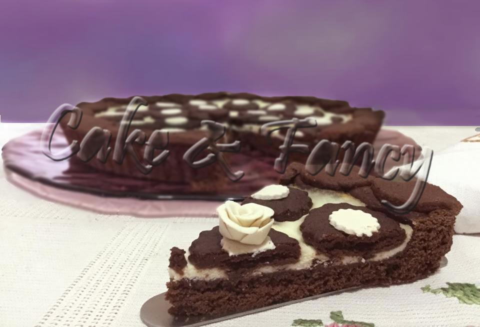 Crostata cacao crema ricotta