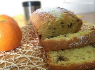 Plumcake arancia e gocce di cioccolato